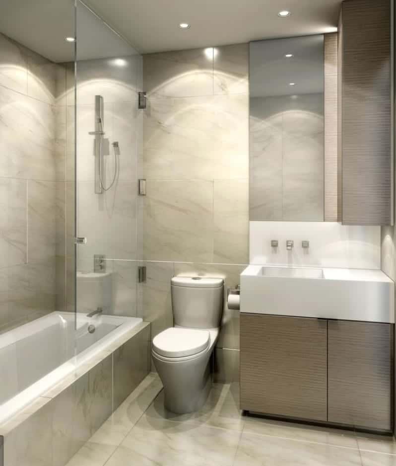 Monde Condos Bathroom Rendering True Condos