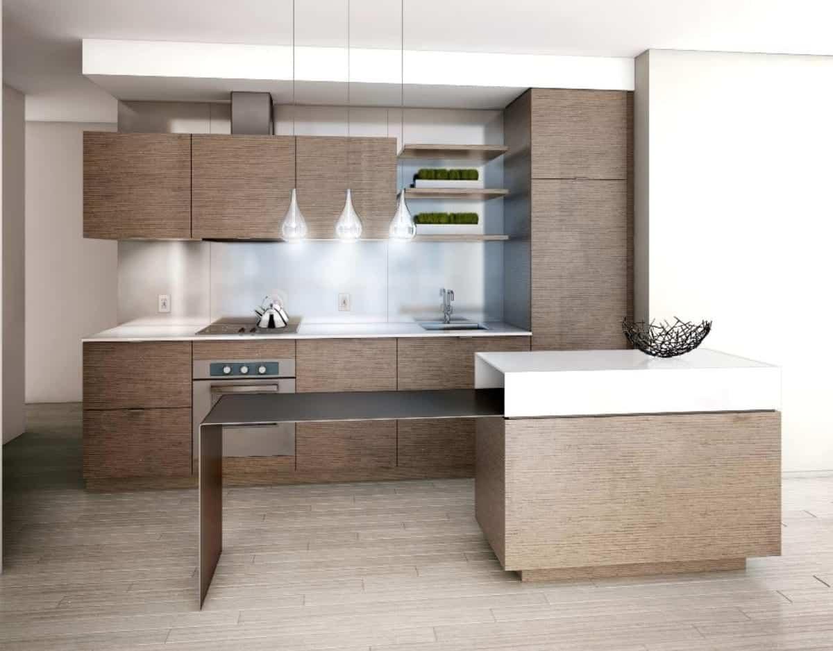 Monde Condos Kitchen Rendering True Condos
