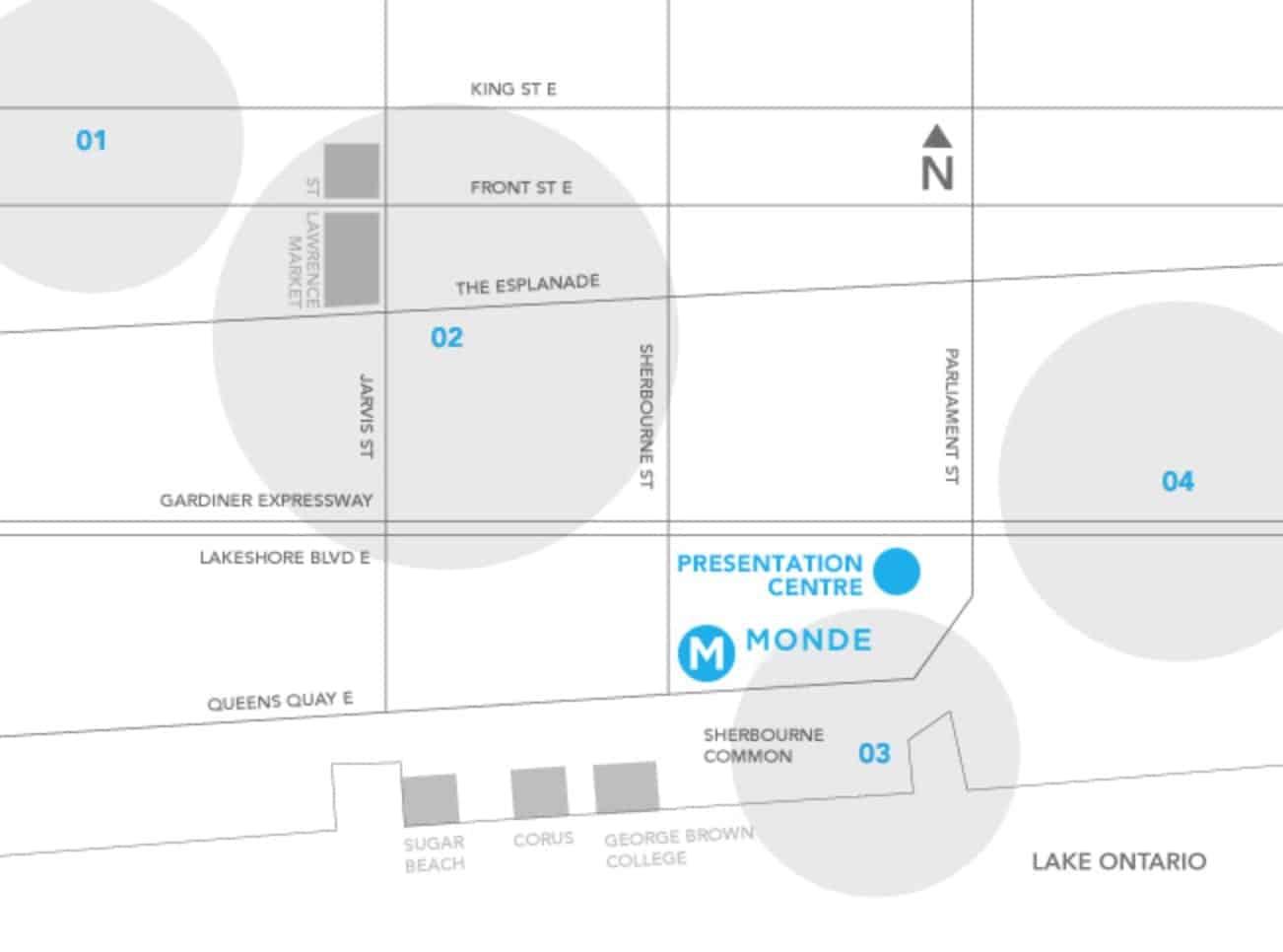 Monde Condos Map Location True Condos