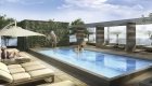 The Britt 9th floor south Terrace Pool Rendering True Condos