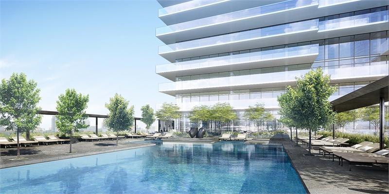 Yonge and Rich Exterior Pool Rendering True Condos