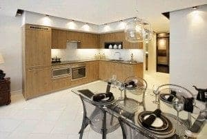newton condos kitchen