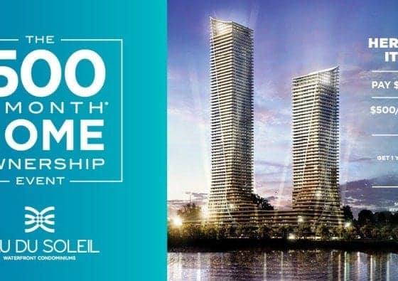 eau du soleil's $500/month ownership promotion