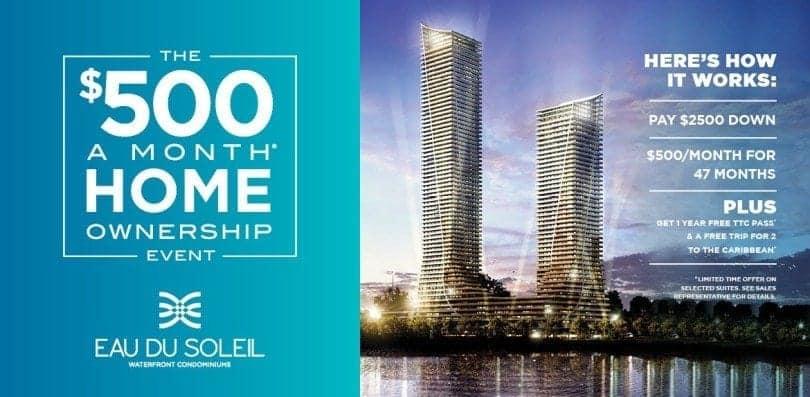 eau du soleil's $500/month ownership promotion