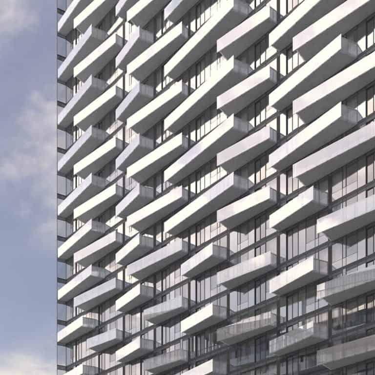 The Well Condos by Tridel Building Balconies Rendering True Condos
