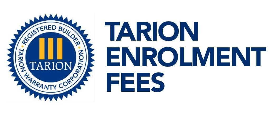 Tarion Enrolment Fees