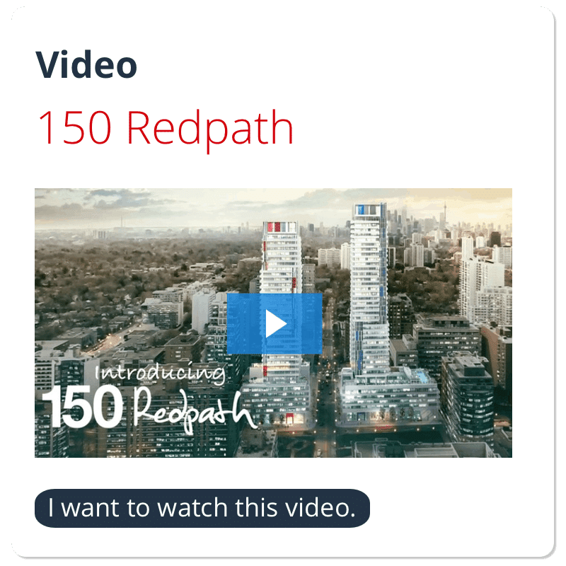 150 redpath condos video