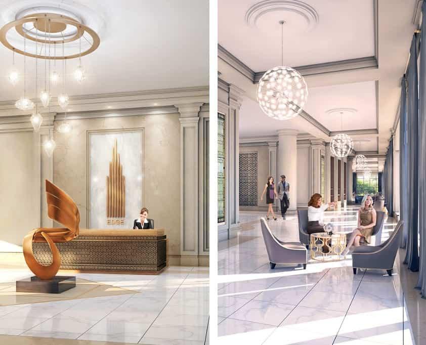 Edge Towers Condos Lobby and Galleria True condos