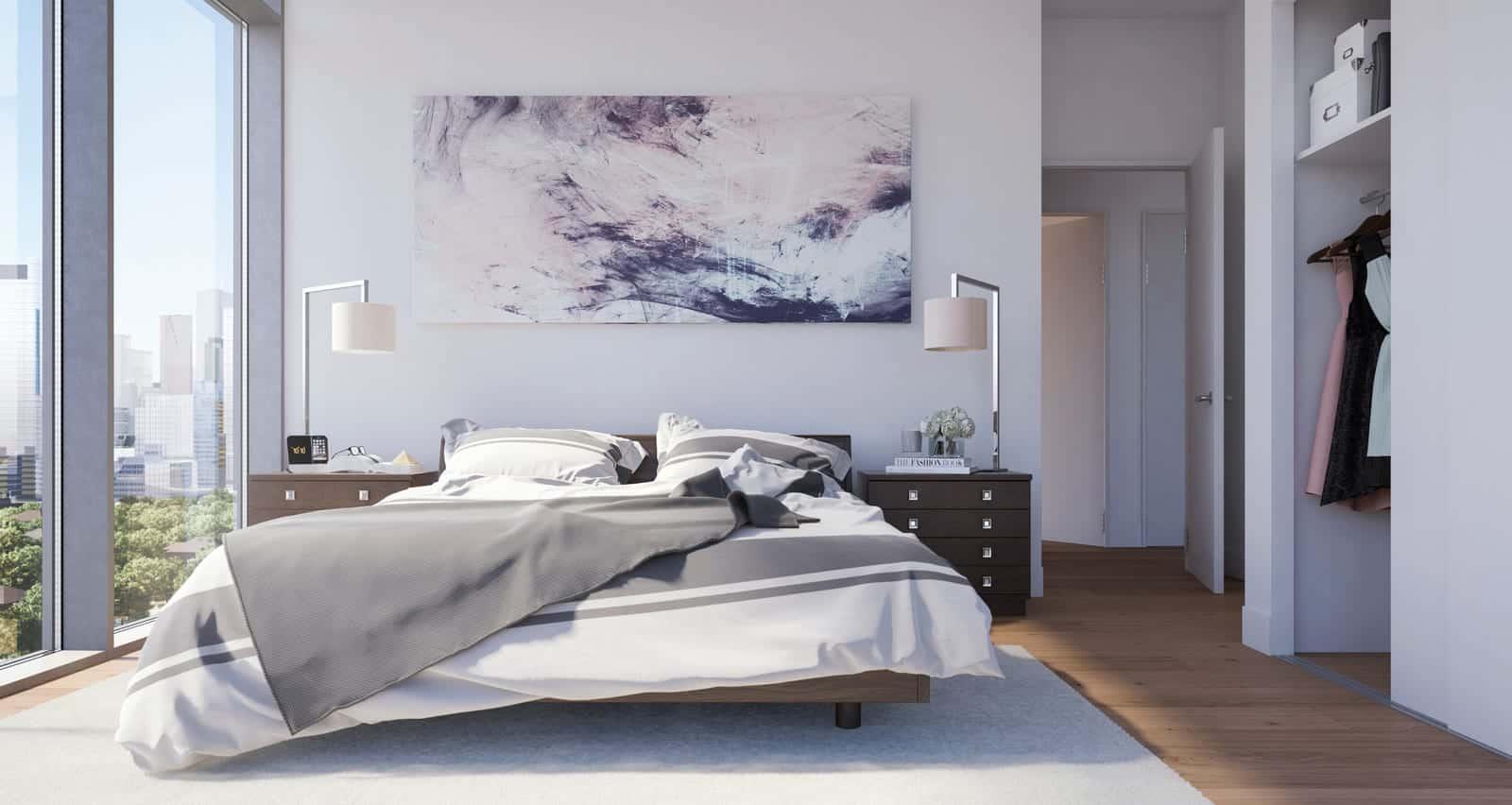 Home Condos at Power and Adelaide Bedroom Interior True Condos