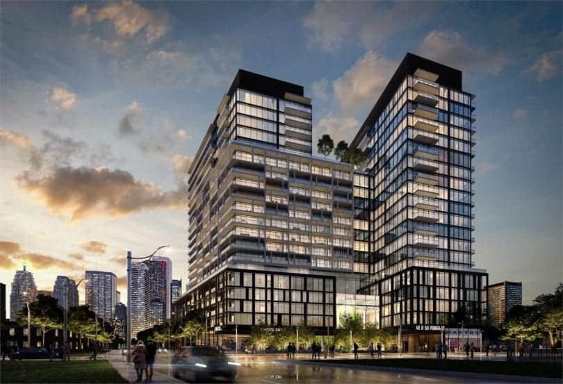 Home Condos at Power and Adelaide Building Rendering True Condos