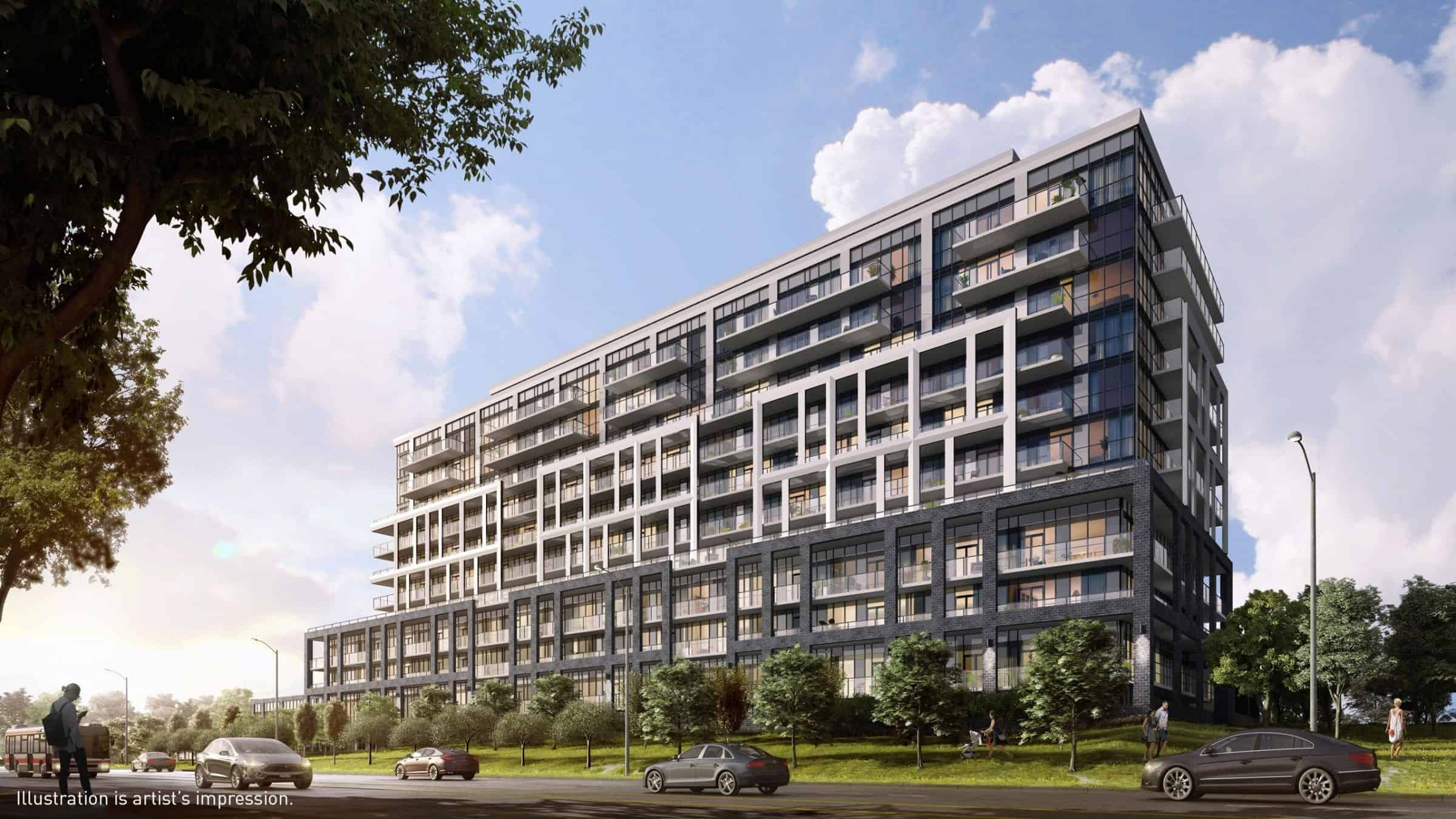 Saturday in Downsview Park Condos Building Rendering