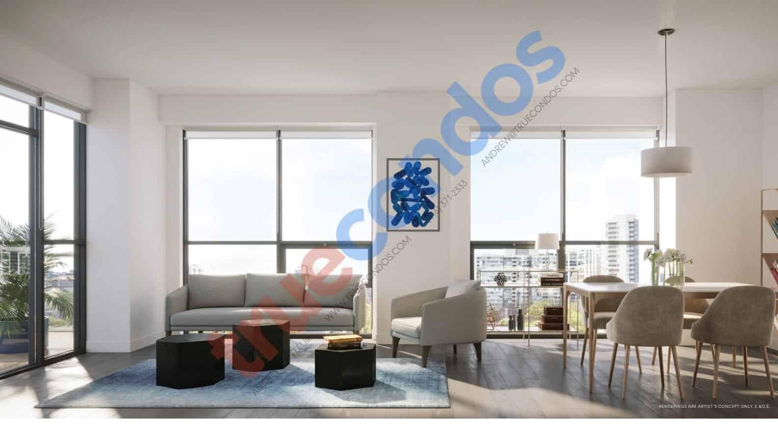 Avia Condos Living Room Interior True Condos