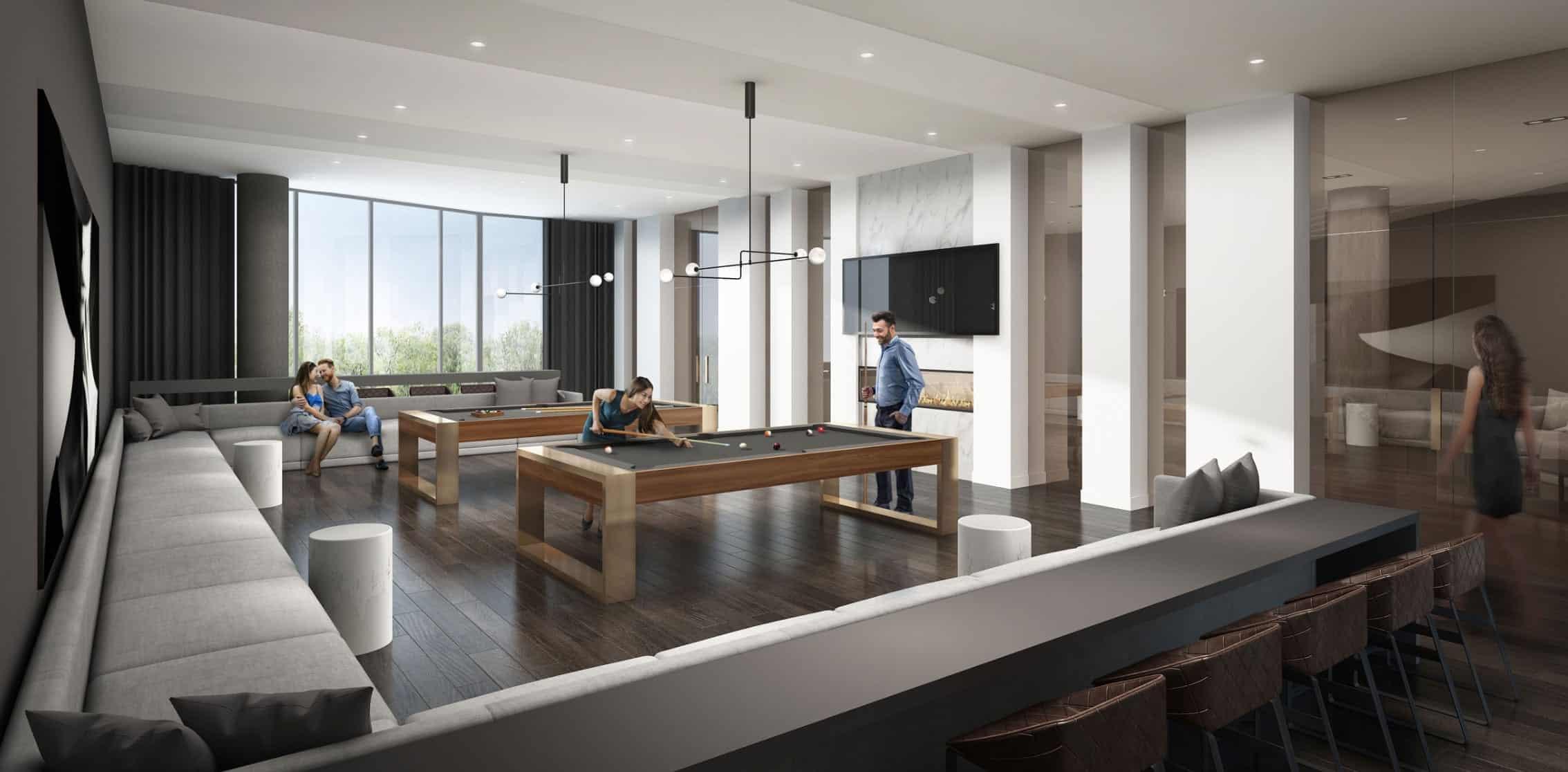 Riverview Condos Billiards Room True Condos
