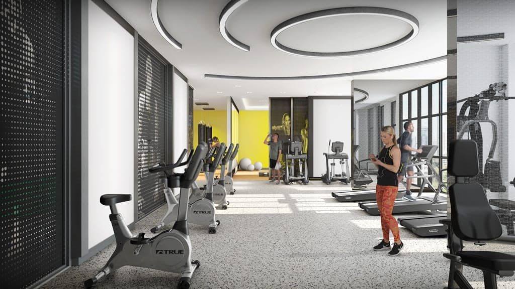 in.DE Condos Gym Fitness True Condos