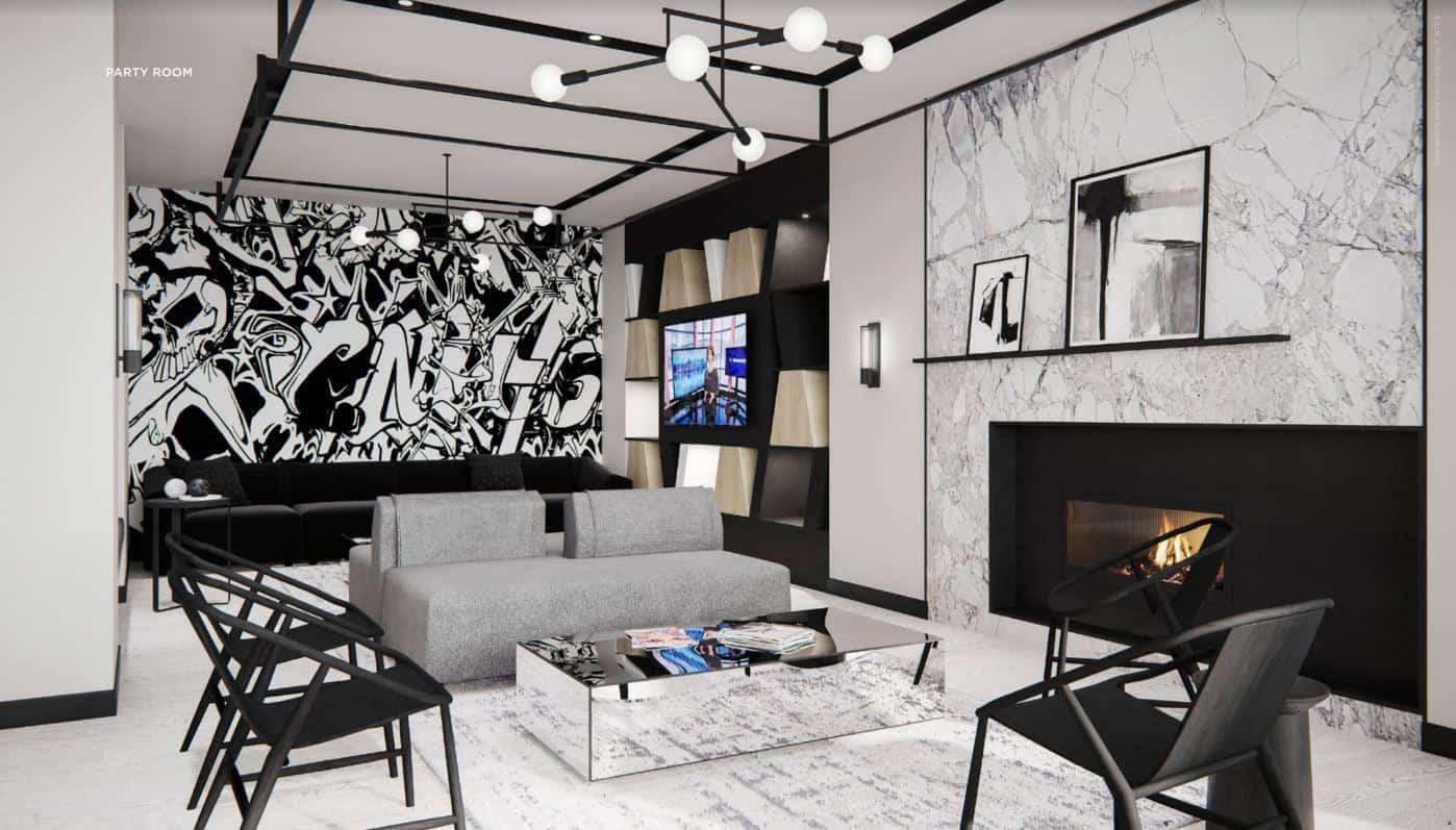 RUSH Condos Party Room Living Area True Condos