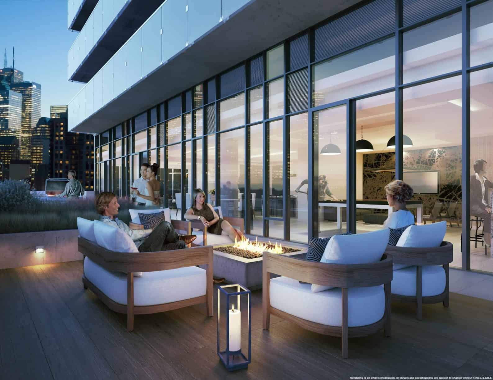 The Garden District Condos Lounge Terrace True Condos