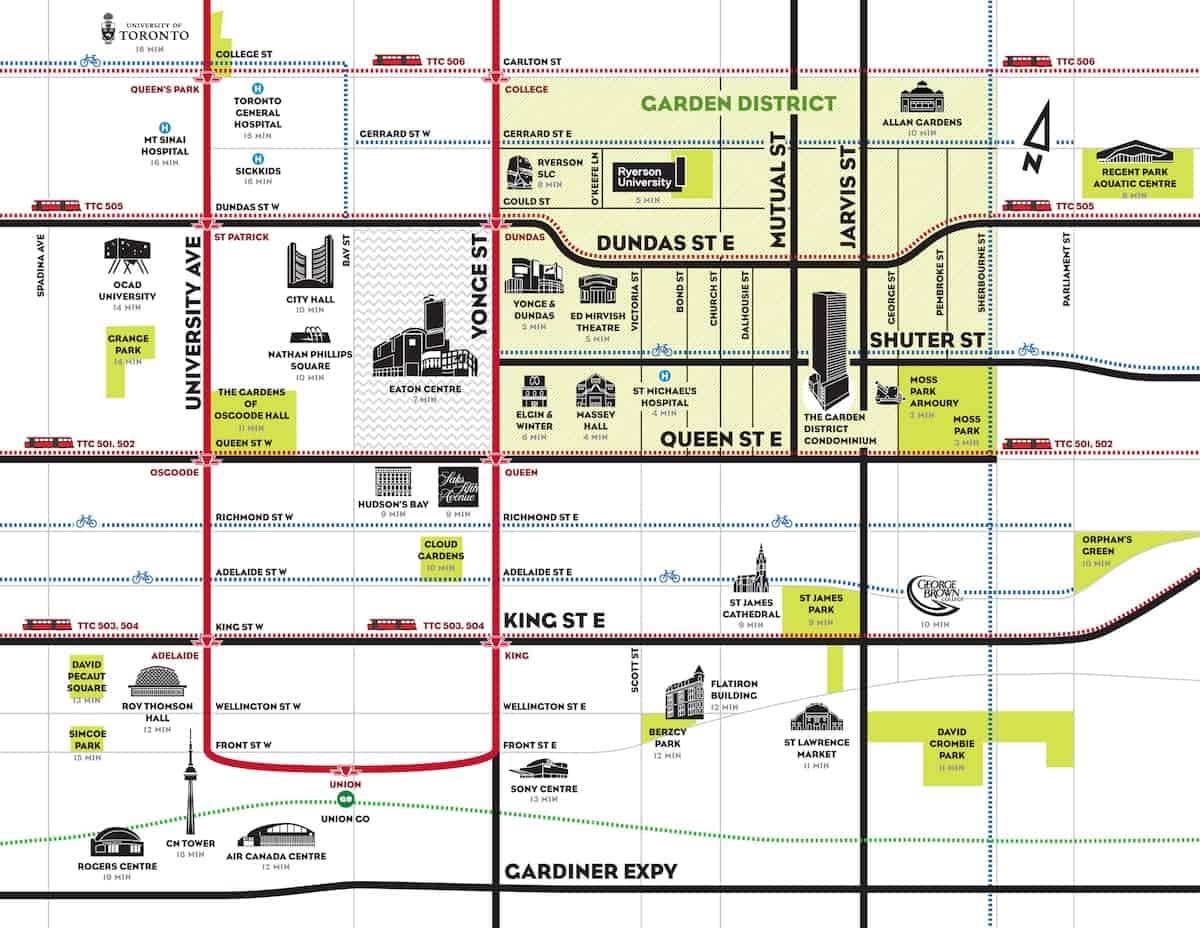 The Garden District Condos Map True Condos