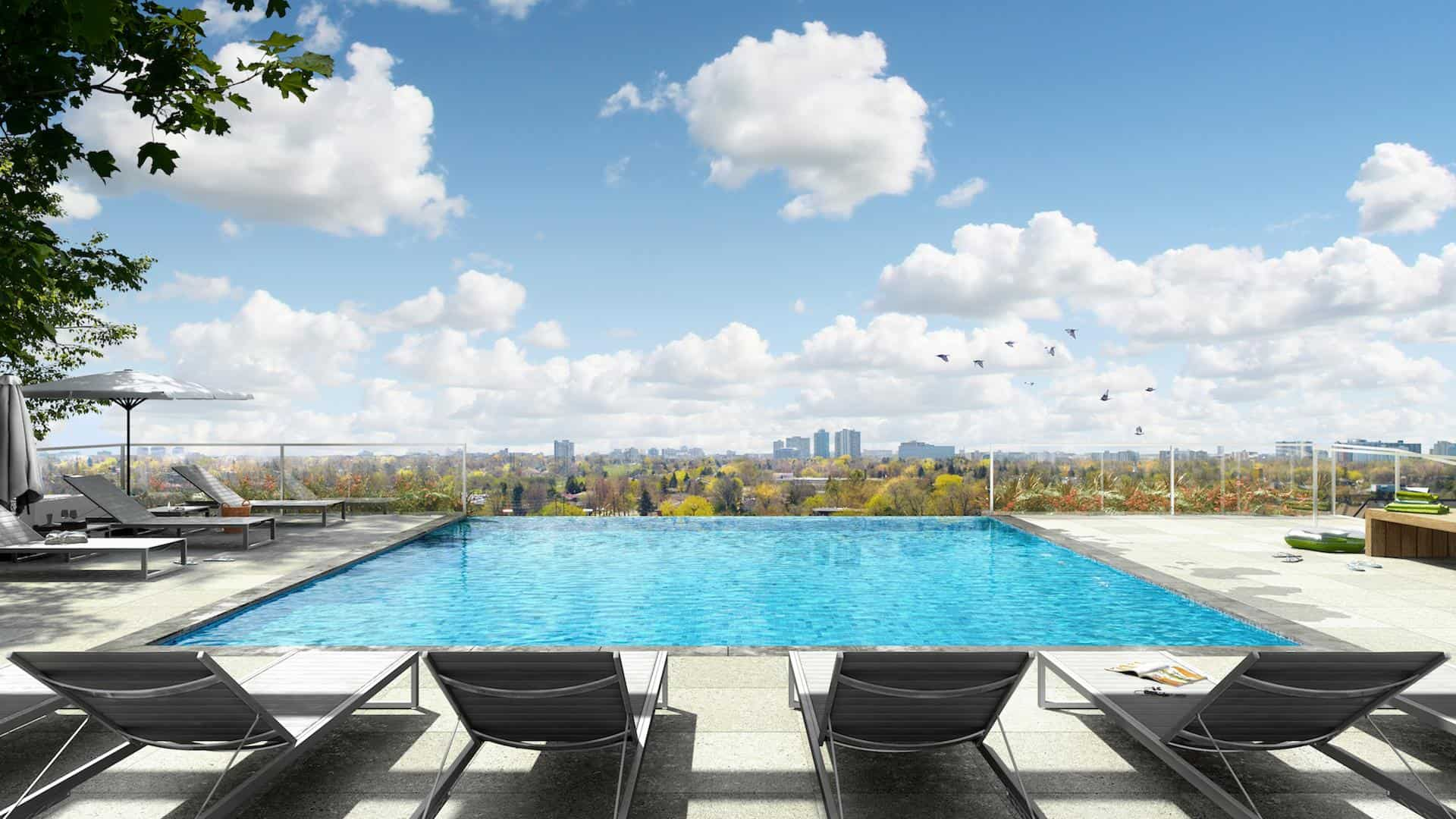 M2M Condos Pool Rendering True Condos