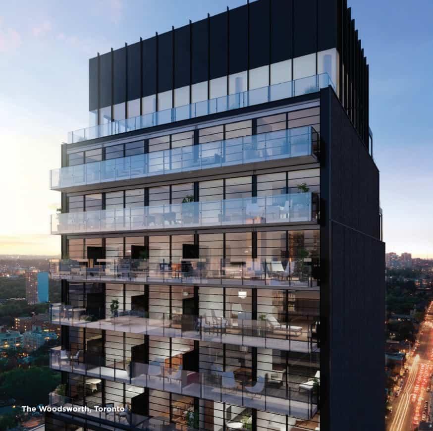 The Woodsworth Condos Balconies Building True Condos