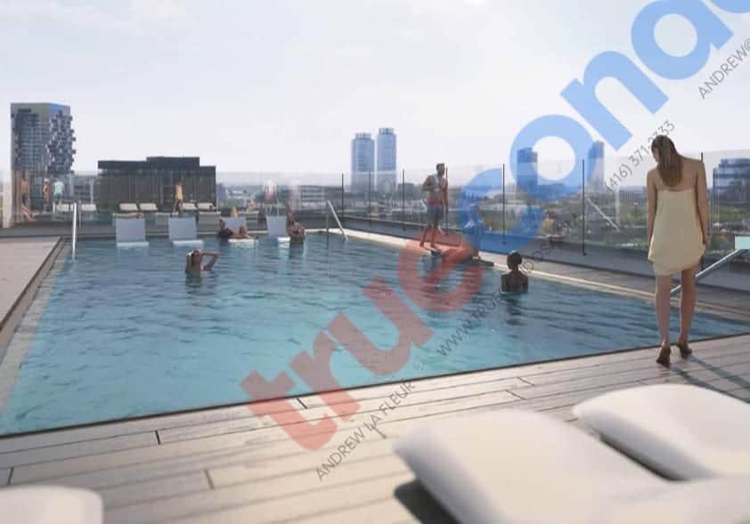 River and Fifth Condos Pool Terrace True Condos