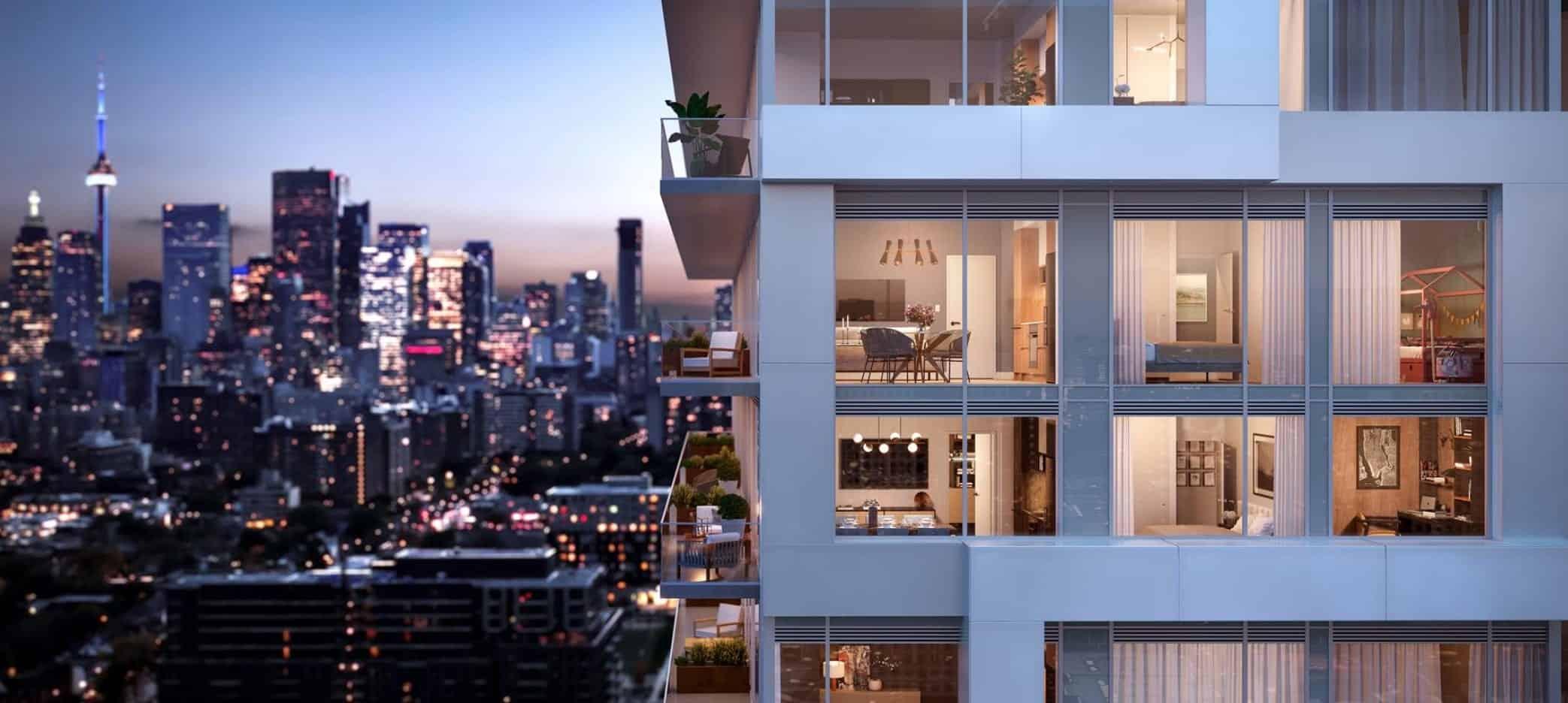 River and Fifth Condos Suite Balcony View True Condos