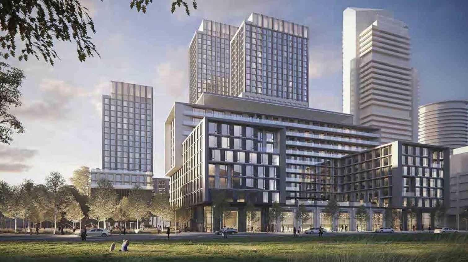 300 The East Mall Condos Building Exterior True Condos