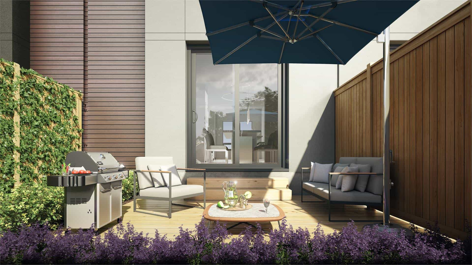 Ironwood Towns Condos Patio Rendering True Condos