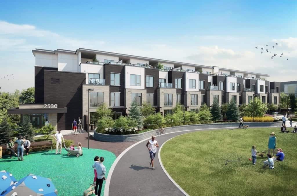 Parc Towns Townhomes Mississauga Exterior Rendering True Condos