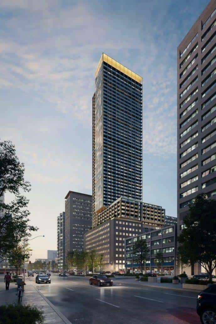 The United BLDG Condos Night Building Renering True Condos
