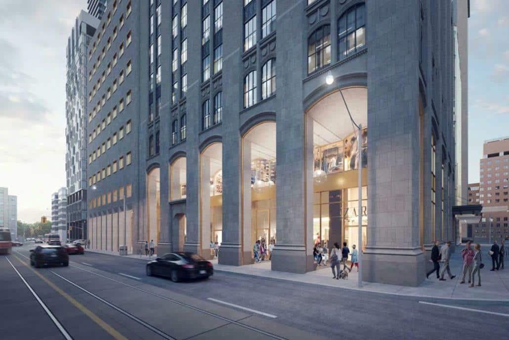 The United BLDG Condos Street Level Rendering True Condos