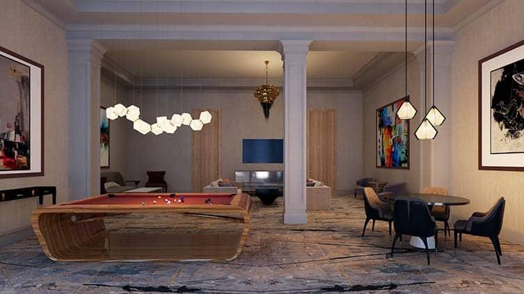 Edge Towers 2 Condos Party Room Billiards True Condos