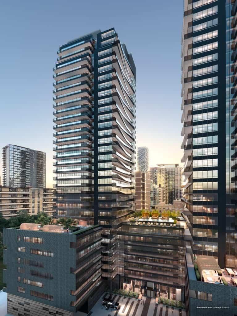 Line 5 Condos South Tower Building Rendering True Condos