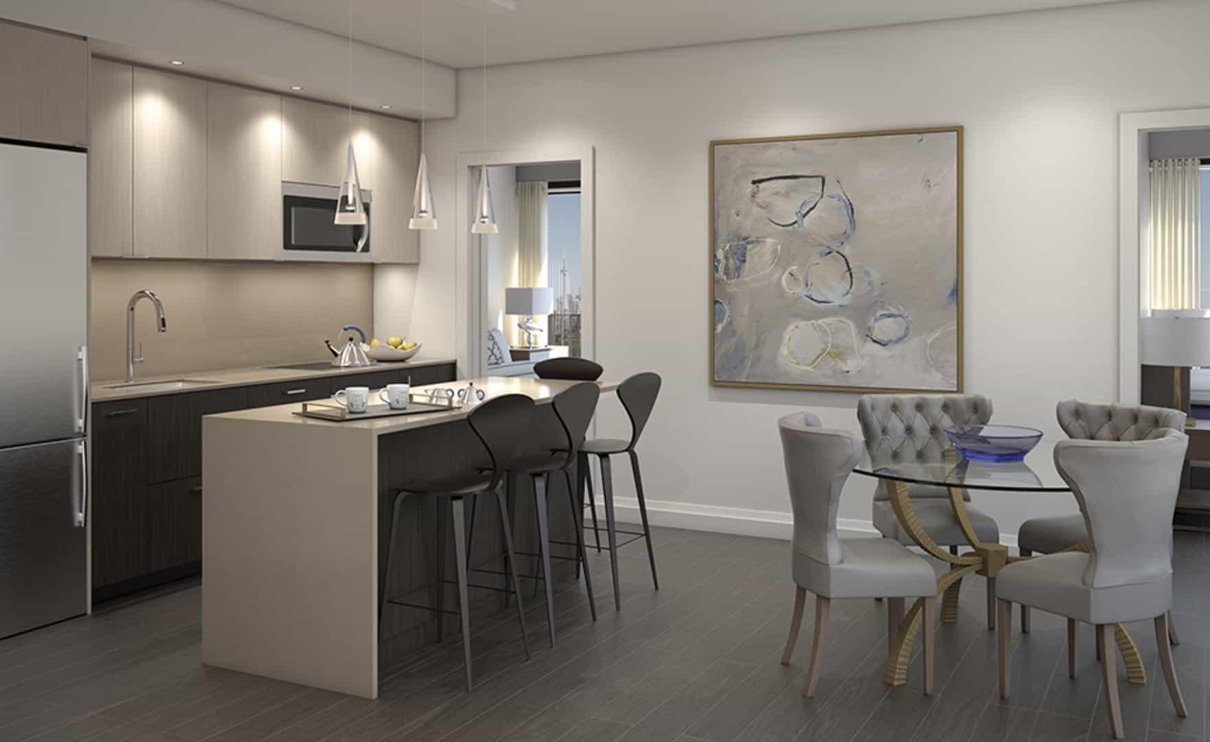 Mirabella Condos West Tower Interior Dining Kitchen True Condos