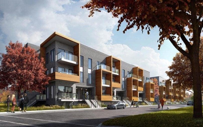 The Clarkson Urban Towns Exterior Rendering True Condos
