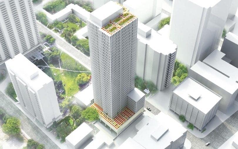 22 Balliol Street Condos Aerial Exterior Building Image Rendering True Condos