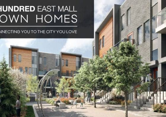 4Hundred East Mall Town Homes Exterior Building Community True Condos