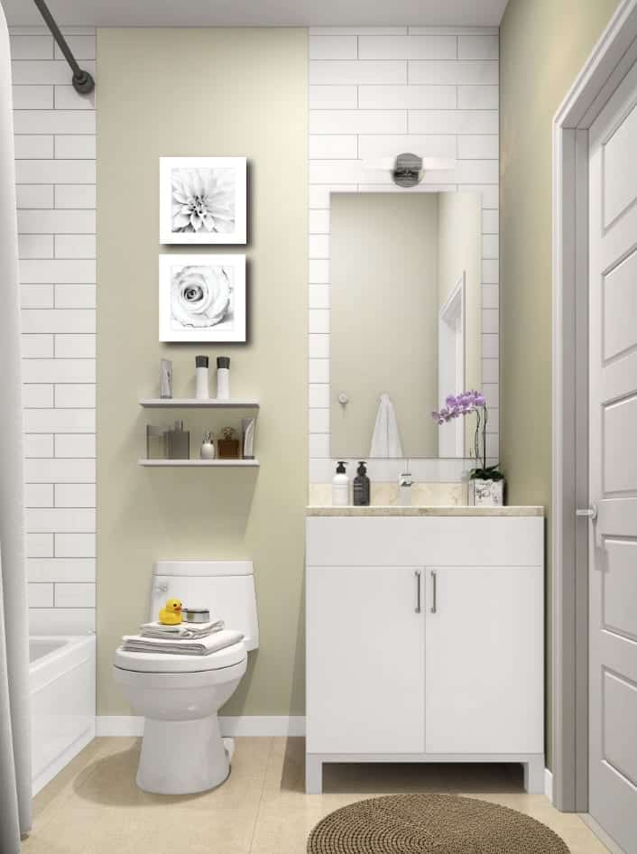 4Hundred East Mall Town Homes Interior Bathroom Image True Condos