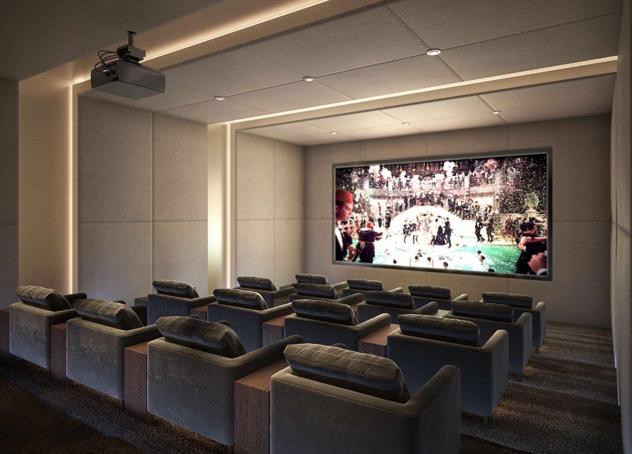 King's Landing Condos Theatre Room True Condos