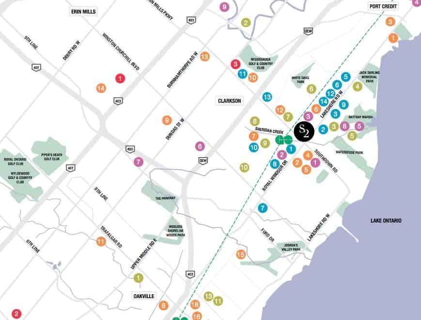 S2 at Stonebrook Condos Amenity Map True Condos