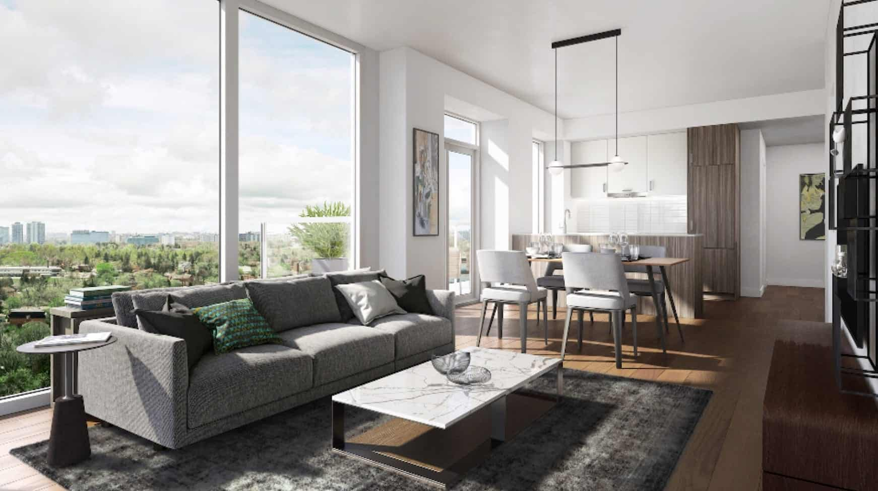 T1 at M2M Condos Living Room True Condos