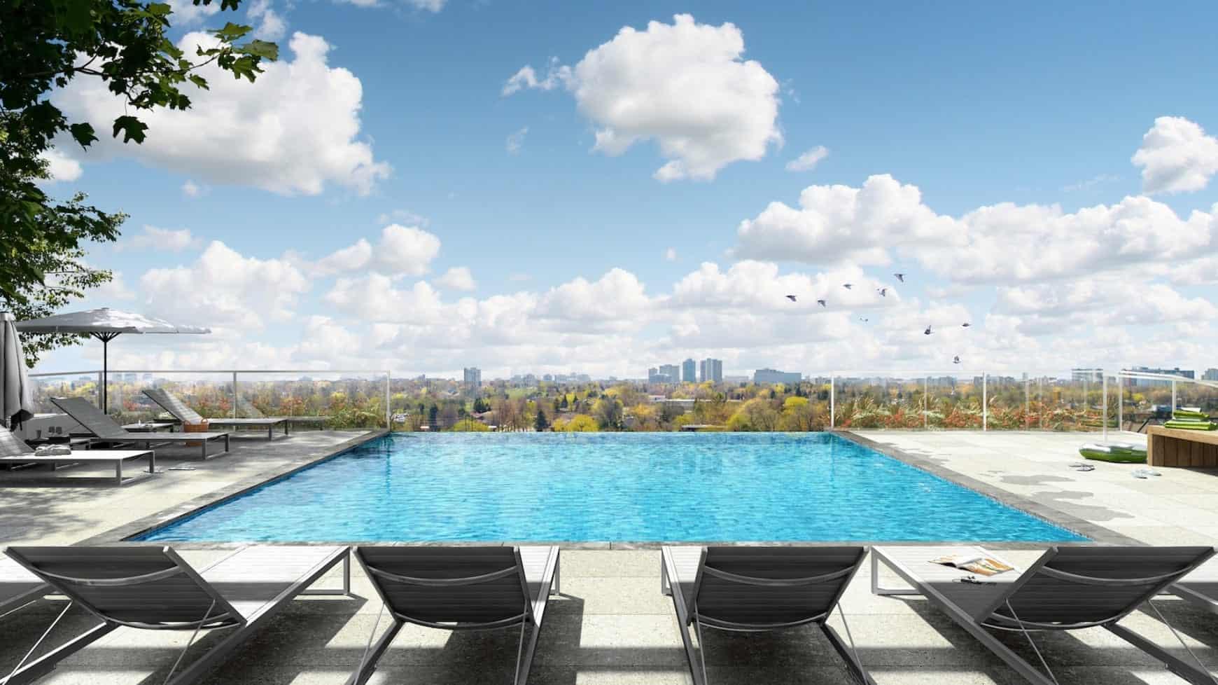T1 at M2M Condos Rooftop Outdoor Pool True Condos