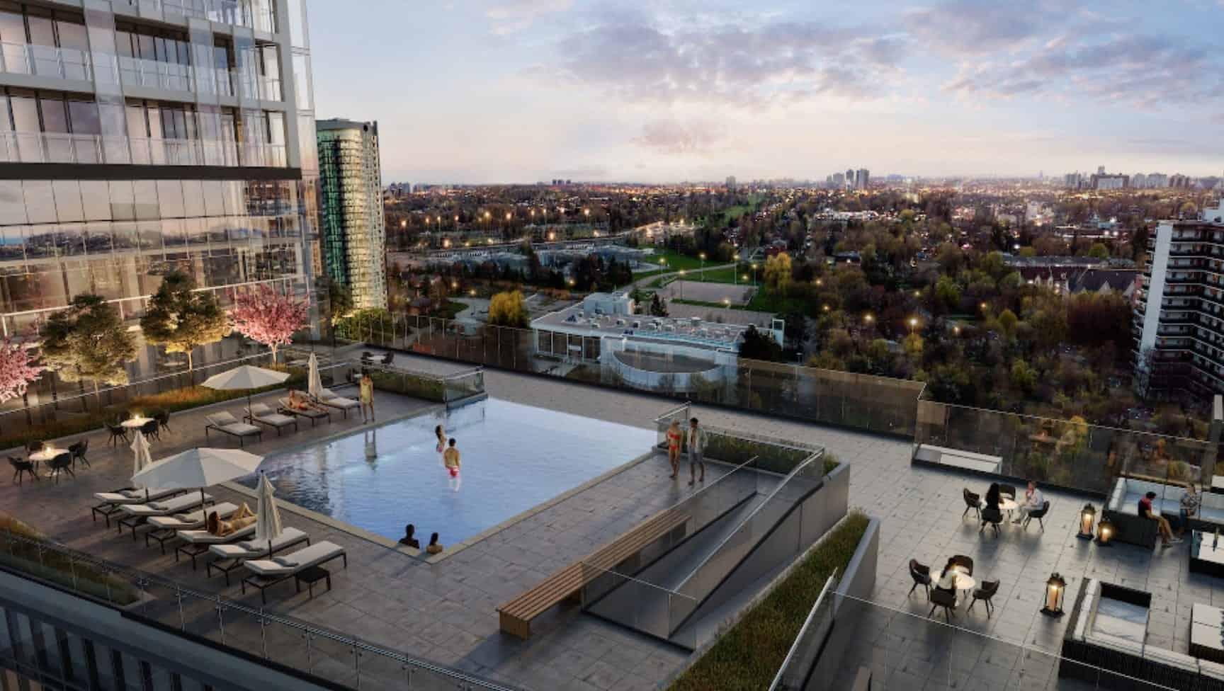 T1 at M2M Condos Rooftop Pool True Condos