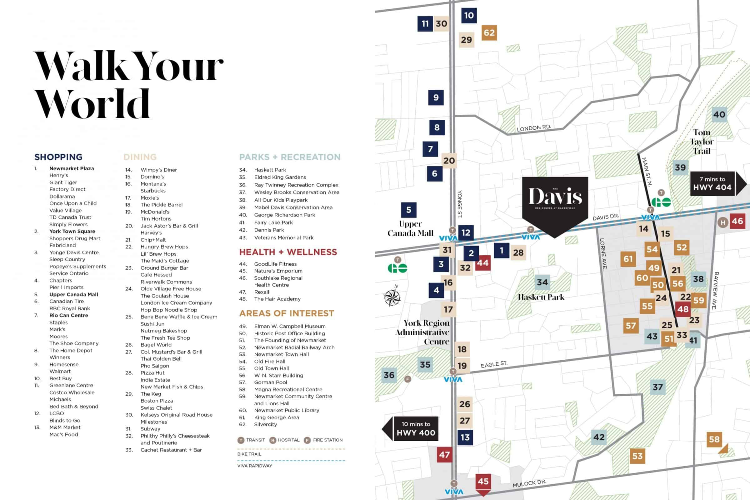 The Davis Condos Newmarket Amenities Map True Condos