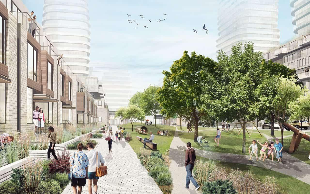 Brightwater Condos and Towns Courtyard True Condos