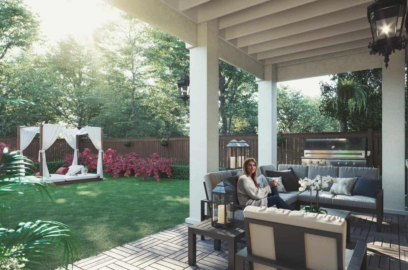 121 East Townhomes Oakville Backyard True Condos