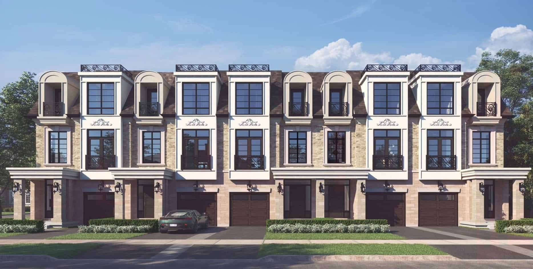 121 East Townhomes Oakville Exterior Front Facing True Condos
