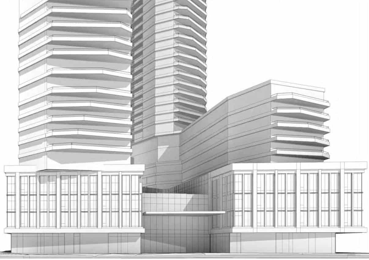 545 Lake Shore Boulevard West Condos Building Rendering True Condos