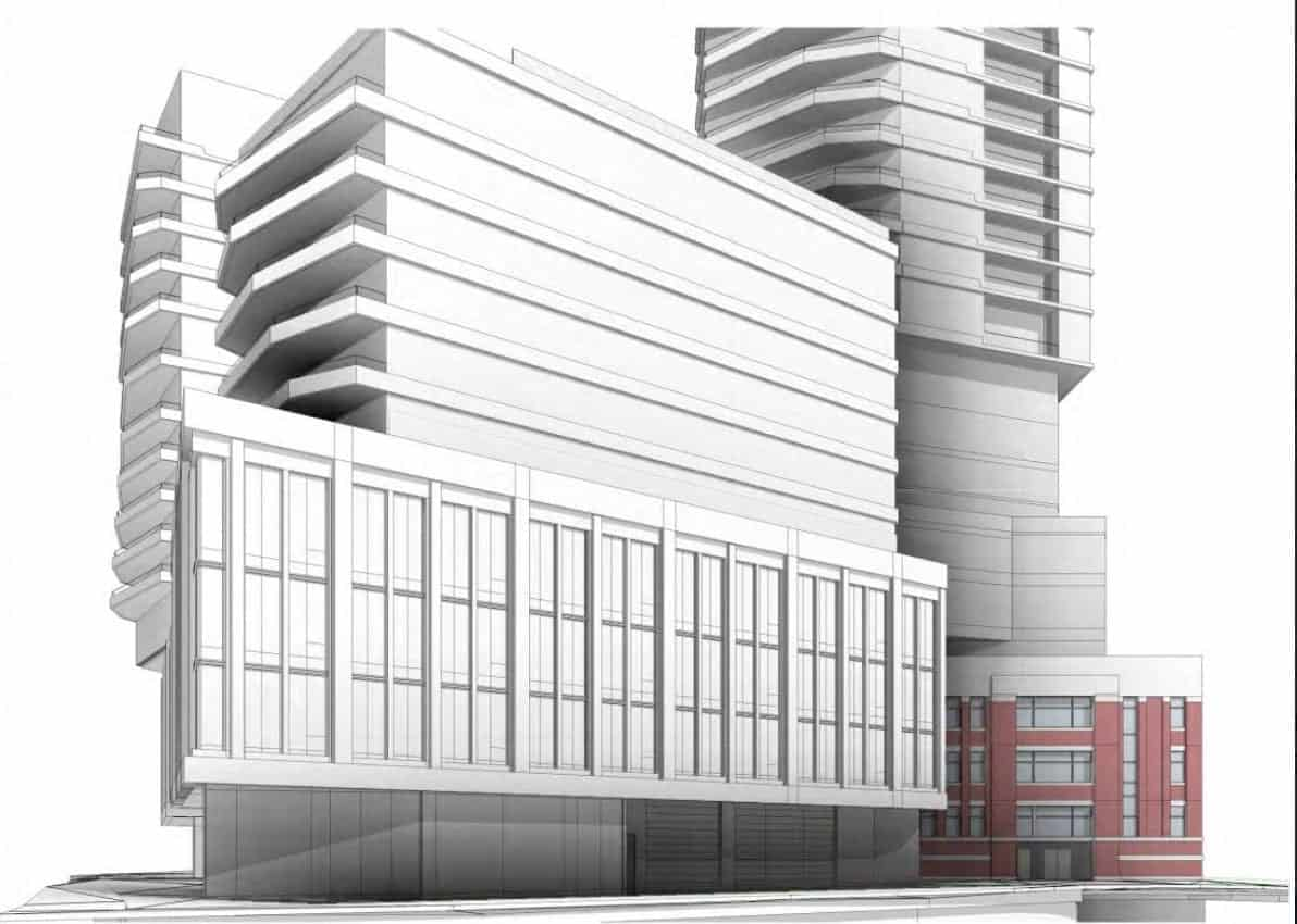 545 Lake Shore Boulevard West Condos Side Building Rendering True Condos