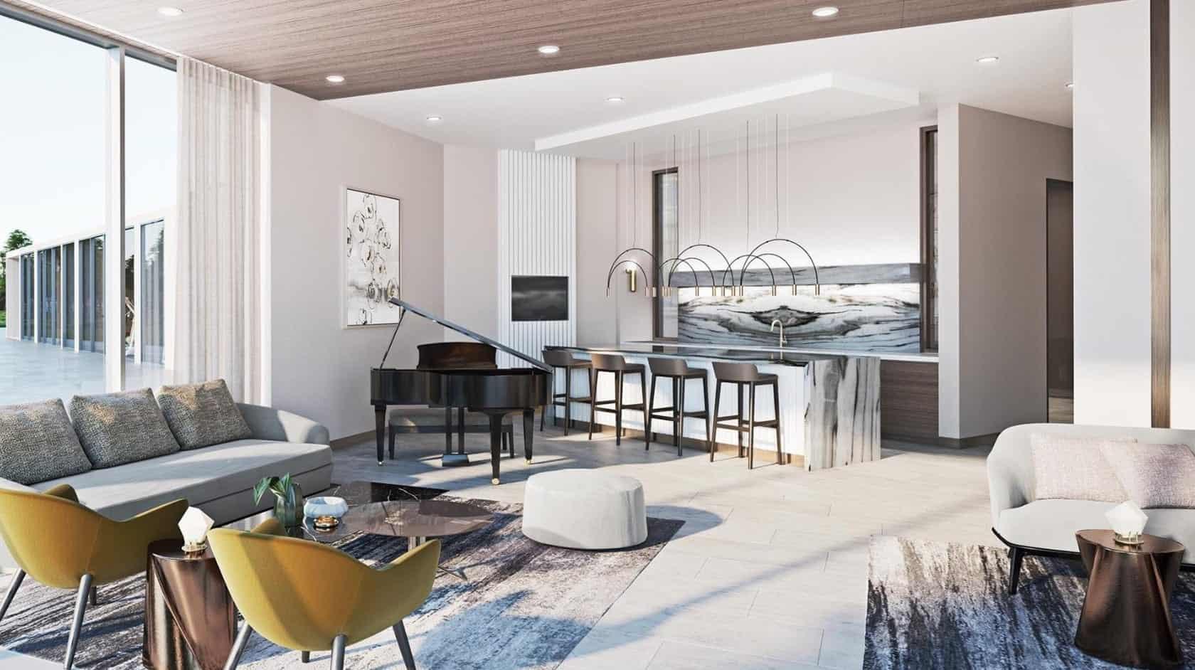 Elgin East Condos Phase 2 Piano Lounge True Condos