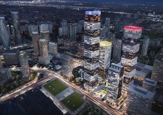 Exchange District Condos Building Image Aerial View True Condos